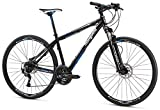 Mongoose Reform Comp 700C Wheel Hybrid Bicycle, Black, 15.5'/Small