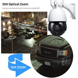 EVERSECU-1080P-30X-Zoom-Motorized-PTZ-Security-Camera-Auto-Cruise-PantiltZoom-High-Speed-Dome-Camera-with-32GB-SD-Card-Two-Way-Audio98ft-Night-Vision-Remote-View-App