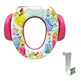 Disney Princess Wishes and Dreams Soft Potty Seat with Toilet Tank Potty Hook