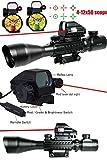 Ledsniper 3in1 Combo4-12x50 Eg Optical Rifle Scope Mil-dot Dual Illuminated w/ Side Rails & Mount