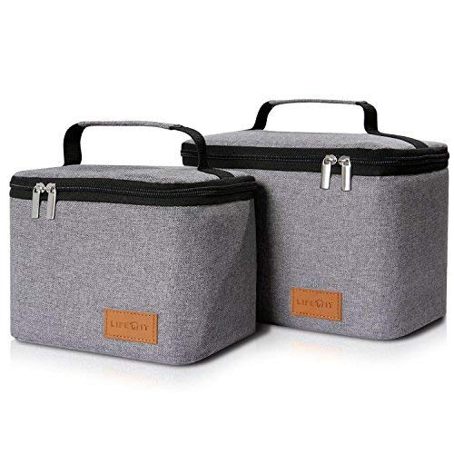 Lifewit Insulated Lunch Box Bag for Men/Women(Pack of 2)