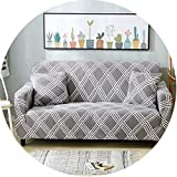 Plaid Sofa Cover Elastic Sofa Covers Stretch Sofa Seat Cover Slipcovers,Color 14,2-Seater(145-185Cm)