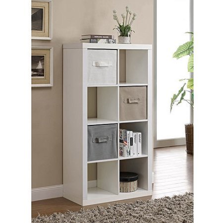 Better Homes and Gardens Furniture 8-Cube Room Organizer (White), Turn it on it's side to accommodate vinyl records