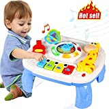 HOMOFY Baby Toys for 6-12 Month Baby Musical Learning Activity Table ,Built-in Animal Sounds, Music & Light Function,Early Development Baby Pull Toy for 1 2 3 Year Old Best Gift for Boys and Girls