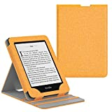MoKo Case Fits Kindle Paperwhite (10th Generation, 2018 Releases), Premium Vertical Flip Cover with Auto Wake/Sleep Compatible for Amazon Kindle Paperwhite 2018 E-Reader - Denim Yellow