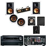 Klipsch R-3650-WII In Wall System #2 (R-5502-WII) FREE PL-200-Onkyo TX-NR626 7.2