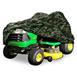 North East Harbor Deluxe Riding Lawn Mower Tractor Cover Fits Decks up to 54' - Camouflage - Water and UV Resistant Storage Cover