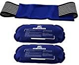Ice Pack (2-Piece Set) - Reusable Hot and Cold Therapy Gel Wrap Support Injury Recovery, Alleviate Joint and Muscle Pain - Rotator Cuff, Knees, Back & More