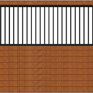Country Manufacturing PS12GS 12ft Wide Grilled Horse stall Side Wall. Black Steel