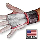 JerkFit WODies Full Palm Protection to Reduce Hand Tearing While Adding Crucial Wrist Support for Weightlifting, Workouts WODs, Cross Training, Fitness and Calisthenics (Red, Small)