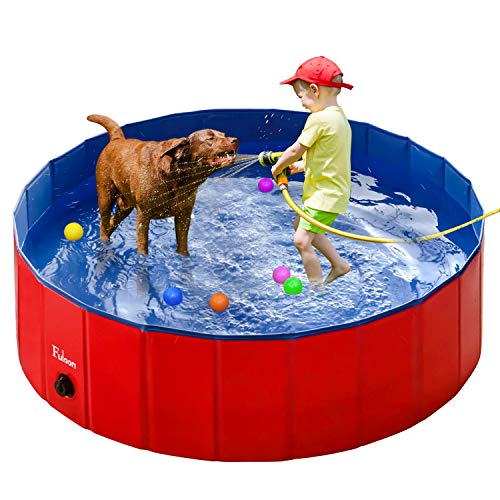 Fuloon PVC Pet Swimming Pool Portable Foldable Pool Dogs Cats Bathing Tub...