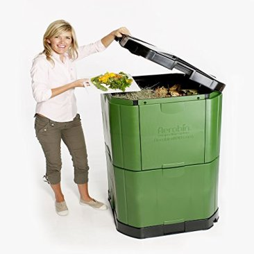 Motherson Auto Parts Aerobin Insulated Composter (400 Litre, Green and Grey) 4