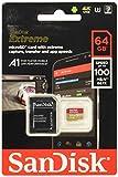 SanDisk Extreme 64GB microSD, microSDHC, microSDXC, 4K UHD- SDSQXA2-064G-GN6MA, A1/A2