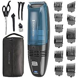 Remington HC6550 Cordless Vacuum Haircut Kit, Vacuum Beard Trimmer, Hair Clippers for Men (18 pieces)  Image