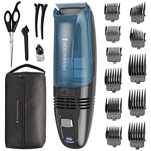 Remington HC6550 Cordless Vacuum Haircut Kit, Vacuum Beard Trimmer, Hair Clippers for Men (18 pieces)