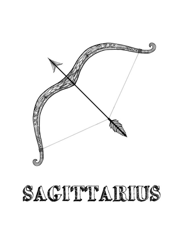 Sagittarius: Coloring Book with Three Different Styles of All