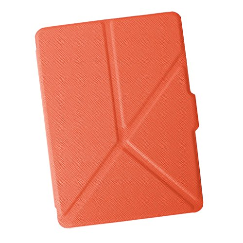 MonkeyJack Thinnest and Lightest Case Stand Folio Case Cover for Kindle Voyage 6inch Orange