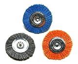 Dico 50-3 Wheel Nyalox Wheel Kit 3-inch Assorted Nyalox Wheel Brushes, 3-Piece
