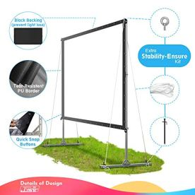 Projector-Screen-with-Stand-Upgraded-3-Layers-135-inch-4K-HD-169-OutdoorIndoor-Portable-Front-Projection-Screen-Foldable-Projection-Screen-with-Carry-Bag-for-Home-Theater-Backyard-Movie