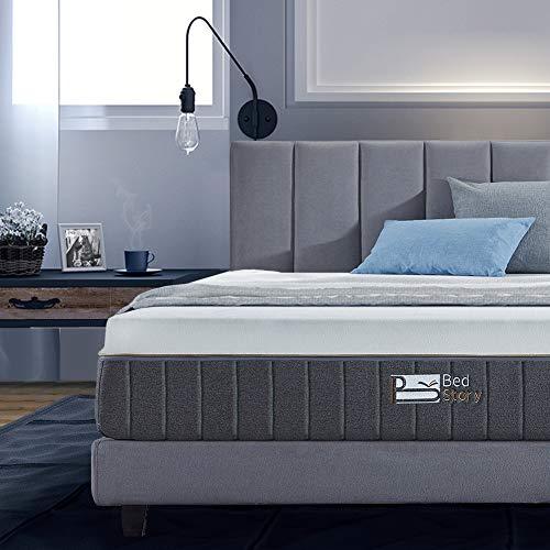 BedStory 12 Inch Gel Memory Foam Mattress Queen, Bamboo Charcoal Infused Breathable Bed Mattress CertiPUR-US Certified Foam, 10-Year Warranty, 100-Night Trial