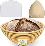 9 Inch Bread Banneton Proofing Basket - Baking Bowl Dough...
