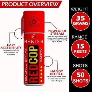 Newish Metal Self Defense Powerful Red Chilli Spray for Women (55 Ml/35 G, Red)