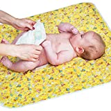 Changing Pad - Diaper Change Pad Large Size (25.5'x31.5') - Portable Waterproof Baby Changing Pad for Girls Boys Newborn - Multi-Function Storage Bag for Travel Changing Mat