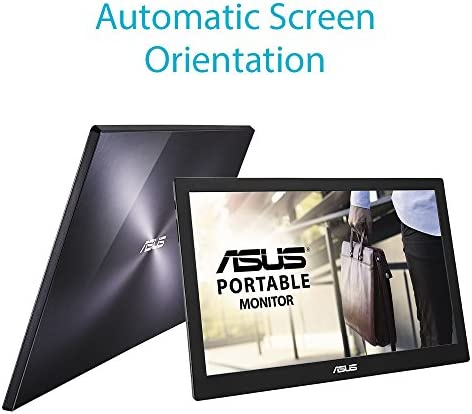 """ASUS 15.6"""" 1080P Portable Monitor (MB169B+) - Full HD, IPS, Auto-rotatable, Smart Case, Ultra-slim, Lightweight, Sleek, USB 3.0 Powered, For Laptop, PC, Phone, Console 15"""