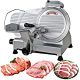 F2C Professional Stainless Steel Semi-Auto Meat Slicer Electric Food Slicer, Deli/Veggies, 240W 530 RPM (Model #01)