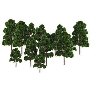 RETYLY Lot 20 x Tree Model landscape Decor Train N HO Electronic Jouef Dark Green 51PoRD 2Br AL