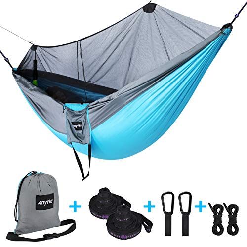 Anytin Hammock with Mosquito Net - Extra Large Double Camping Hammock for...