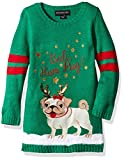 Blizzard Bay Girls Ugly Christmas Sweater Dog, Green, XL 6X