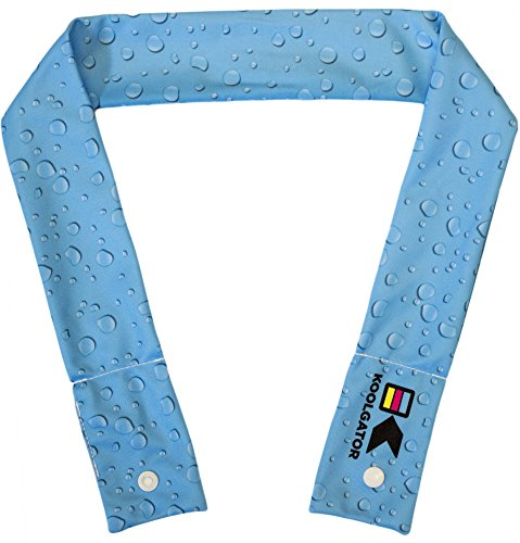 KOOLGATOR Cooling Neck Wrap - Water Drops Design