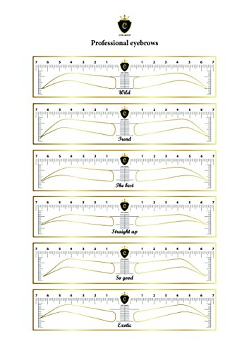 CTR Stencil Sticker for Eyebrow Microblading Template 24 units 12 Different Forms by CTR (24 units)