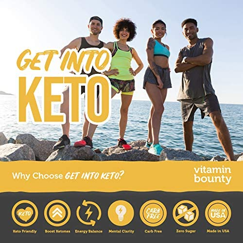 Get Into Keto - Exogenous Ketone Beta Hydroxybutyrate (BHB) for Men and Women - Supercharge Ketosis & Manage Cravings, 60 ct 4