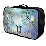 Travel Bags Cats And Tree Night Portable Duffel Custom Personalized Trolley Handle Luggage Bag