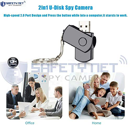 51Pss 0TQbL SAFETYNET Mini Spy Camera with U Disk Indoor Outdoor Portable Camera HD Small Security Surveillance Camera Hidden Video Recorder with Audio Hd Motion Detected Digital Video