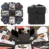 EKKONG Creative Explosion Gift Box, DIY Handmade Photo Album Scrapbooking Gift Box for Birthday Party, Valentine's Day, Mother's Day & Wedding (Black)