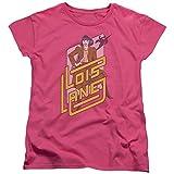 DC Comics Lois Lane Womens Short Sleeve Shirt Hot Pink MD