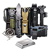 Cool & Unique Father's Day Birthday Gift for Him Men Dad Boyfriend, Cool New Fun Gadget, 11-in-1 Survival Gear Kits, EDC Emergency Tools and Everyday Carry Gear, Official Survival Kit