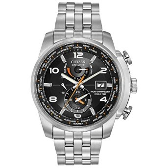 Citizen Men's Eco-Drive World Time Atomic Timekeeping Watch with Day/Date, AT9010-52E