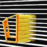 Window Venetian 7 Finger Dusting Cleaner Tool Mini Blind Duster Brush Dust Clean Venetian Blind Brush Window Air Conditioner Duster Dirt Cleaner Housework Tool, Washable