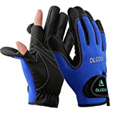 POSA Palmyth 2 Cut Fingers Fishing Gloves Skidproof Sun Protection Fishing Tackle for Fly Fishing Ice Fishing Hunting Riding Cycling