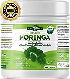 Organic Moringa Oleifera Leaf Powder - USDA Certified Organic Single Origin Moringa Powder from Nicaragua. Perfect for Smoothies, Recipes and Moringa Tea. 8 oz.
