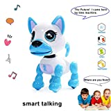 Interactive Puppy - Smart Pet, Electronic Robot Dog Toys for Age 3 4 5 6 7 8 Year Old Boys and Girls, Gifts for Kids  Voice Control&Intelligent Talking (White)