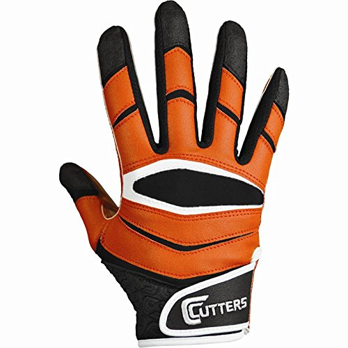 Cutters Gloves C-TACK Revolution Football Gloves (Orange, Large)