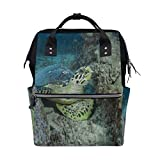 Diaper Bags Turtle Swims Sea Fashion Mummy Backpack Multi Functions Large Capacity Nappy Bag Nursing Bag for Baby Care for Traveling