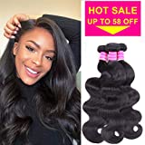 Gabrielle (10 12 14) 3 Bundles Brazilian Hair Body Wave 100% Unprocessed Brazilian Virgin Human Hair Weave Hair Bundles Extensions Natural Color 8-28 Inch