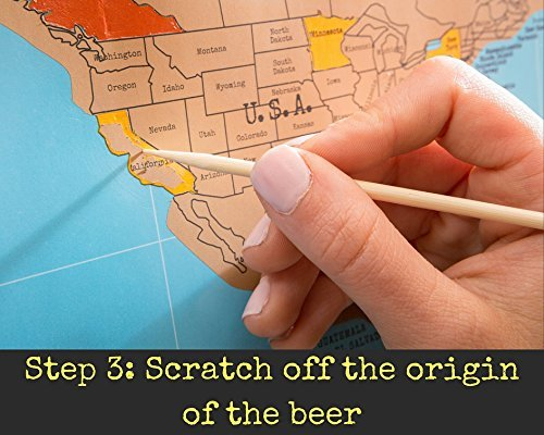 Beer cap map around the world in 80 beers scratch off craft beer beer cap map gumiabroncs Gallery