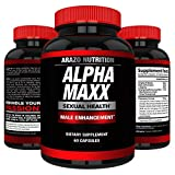AlphaMAXX Male Enhancement Supplement - Ginseng, Muira Puama, Tribulus - 60 Herbal Pill - Arazo Nutrition
